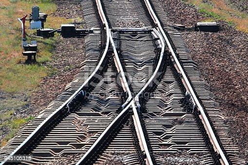 Railway tracks with switch
