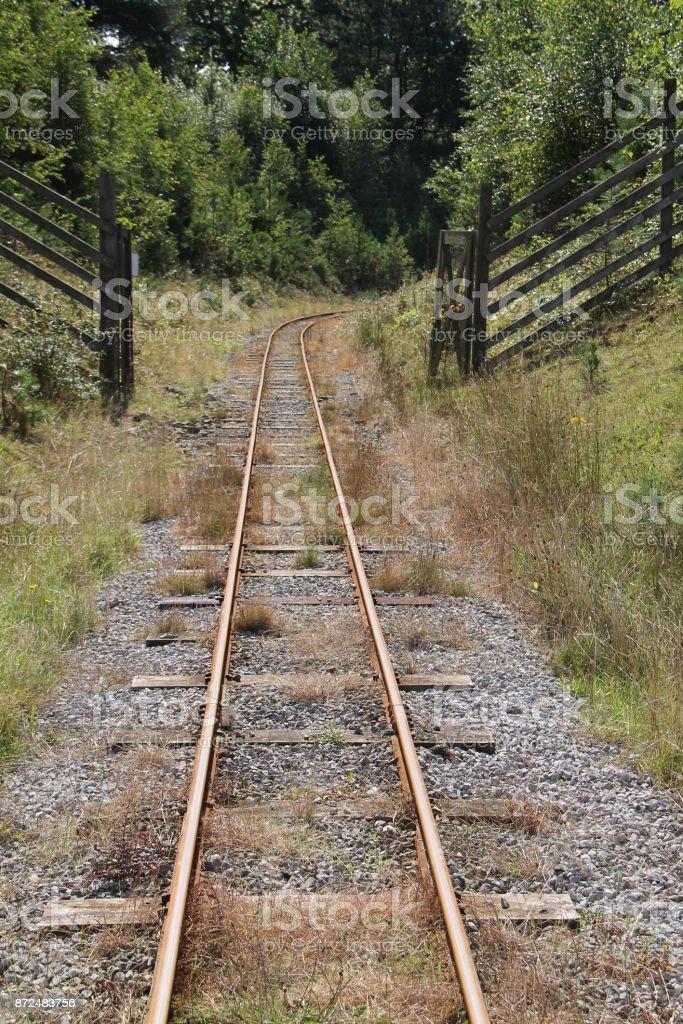Railway Train Track. stock photo