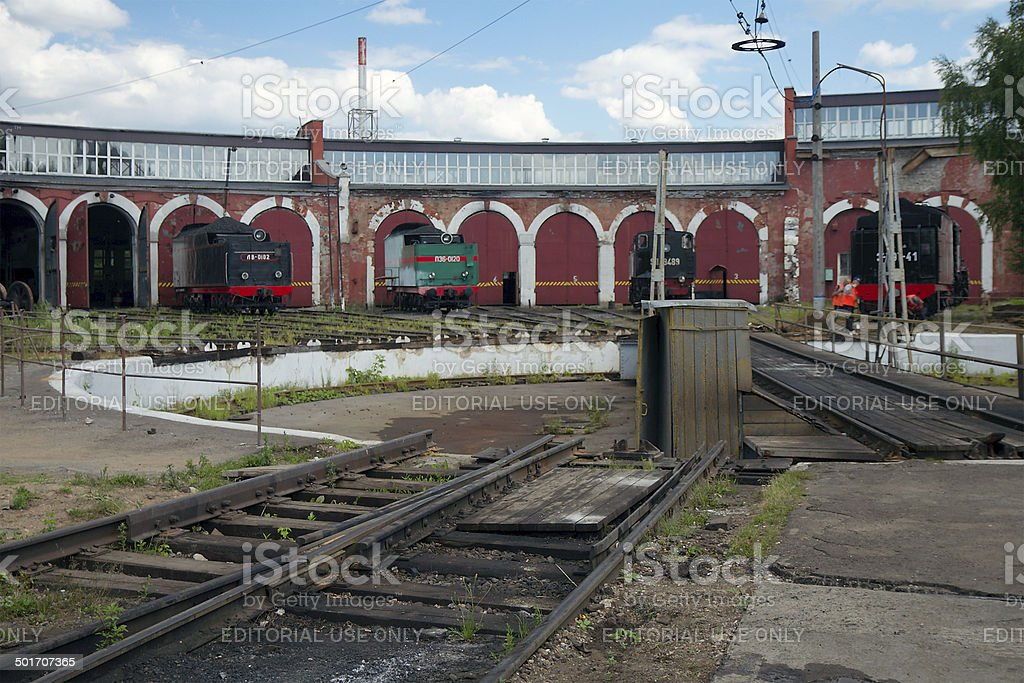 Railway Turntable And The Roundhouse Stock Photo & More