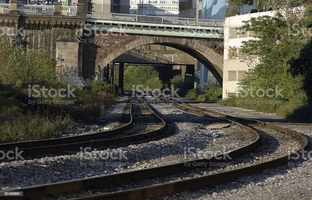 railway underpass royalty-free stock photo