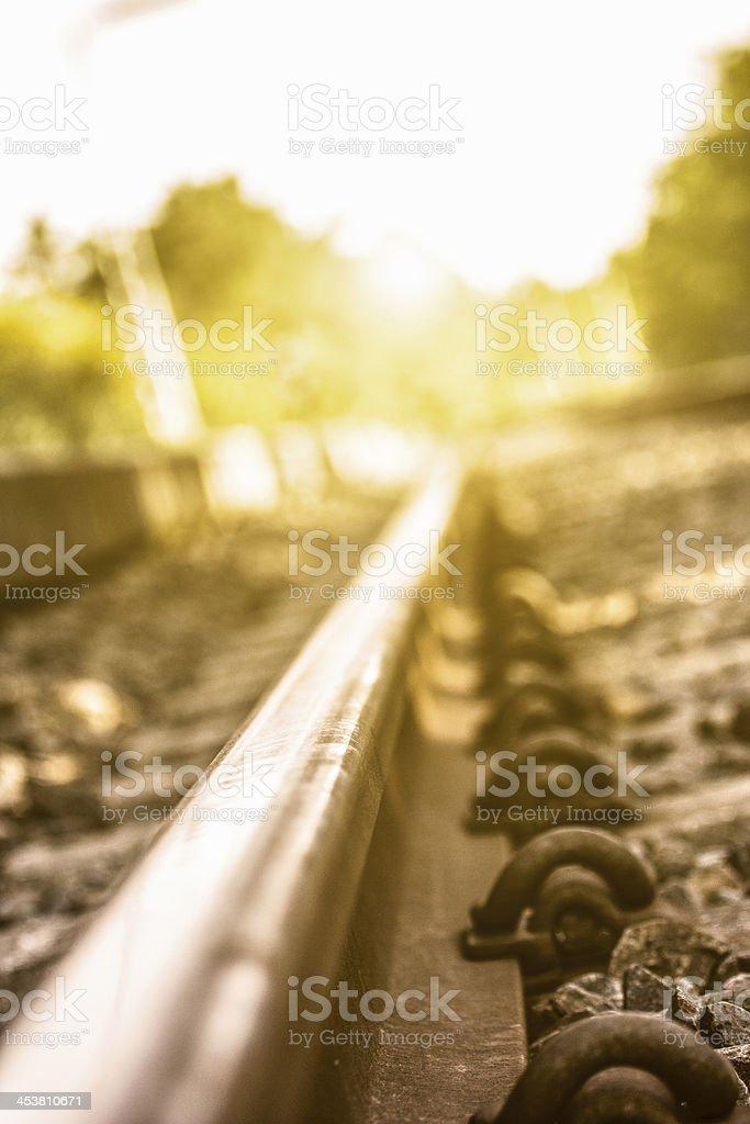 Railway vanishing point stock photo