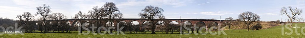Railway viaduct panorama royalty-free stock photo