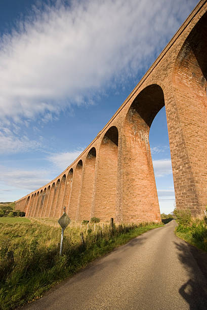 Railway viaduct Wide angle shot of a railway viaduct at Culloden, near Inverness in Scotland. culloden stock pictures, royalty-free photos & images