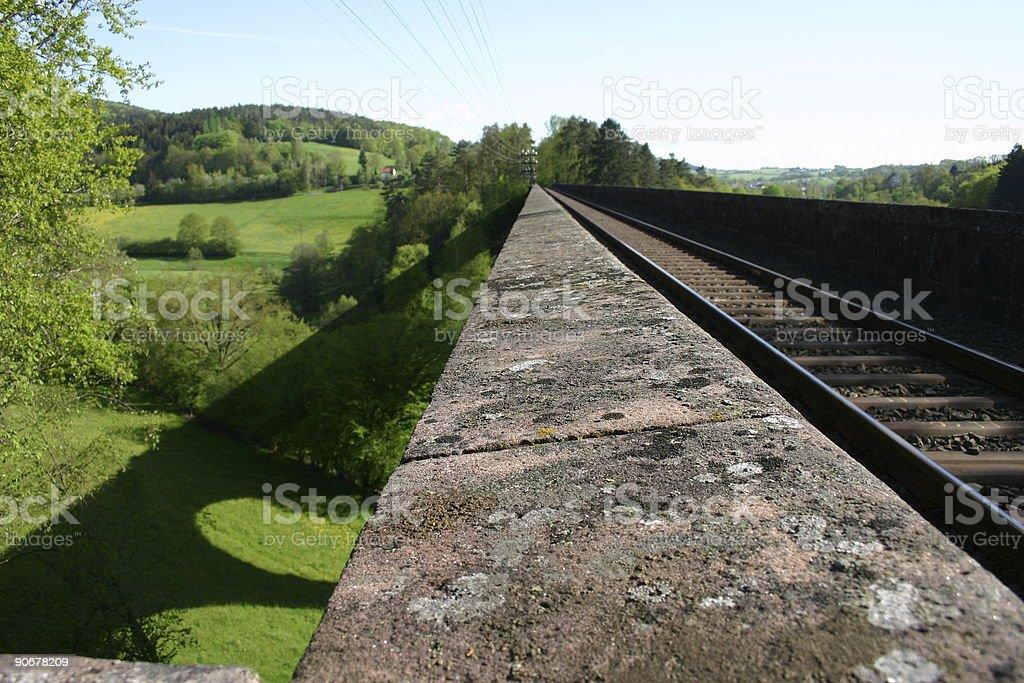Railway viaduct royalty-free stock photo