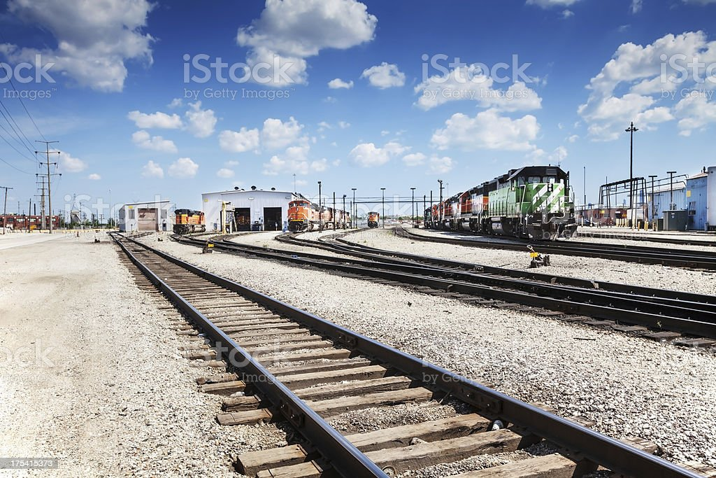Railway Yards in Archer Heights, Chicago royalty-free stock photo