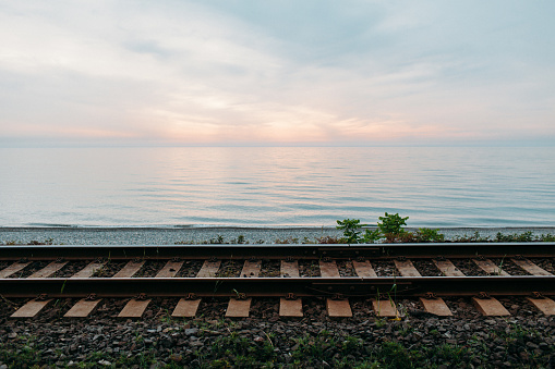 Railways near the sea