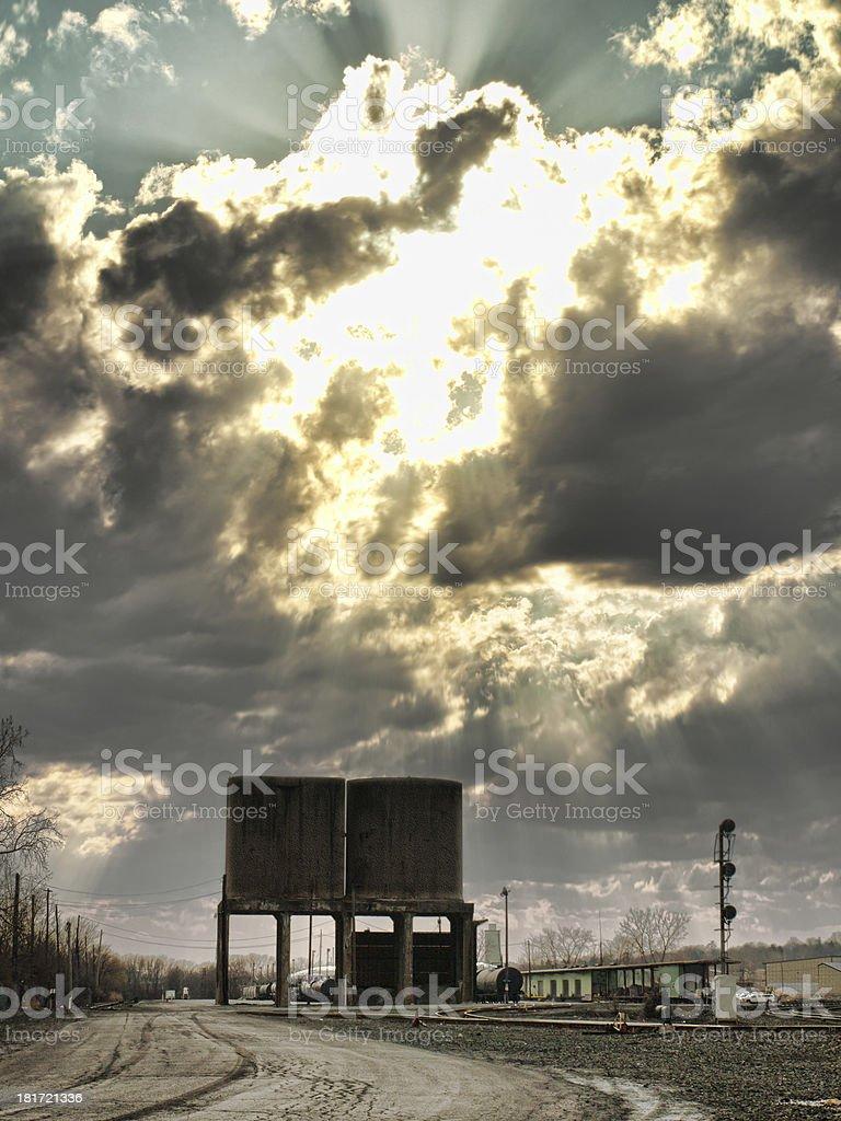 railyard royalty-free stock photo