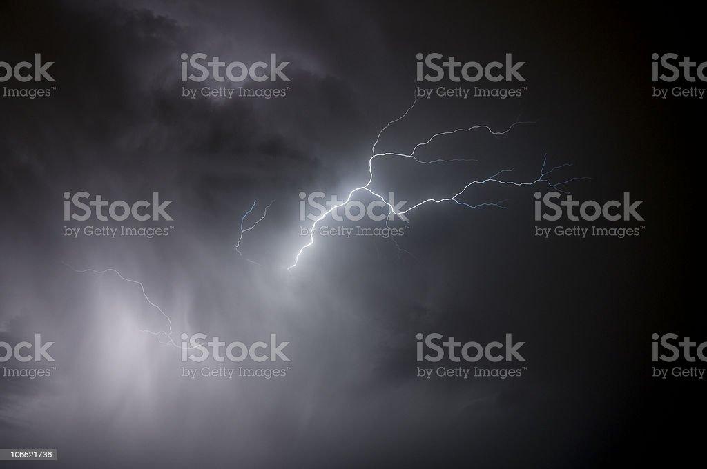 Rain and Lightning stock photo