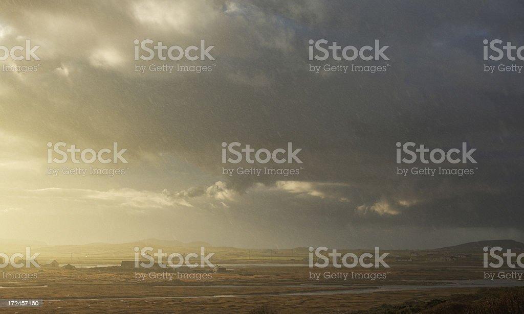 rain and sunshine royalty-free stock photo