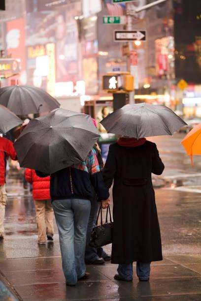 Rain and the City (New York) stock photo