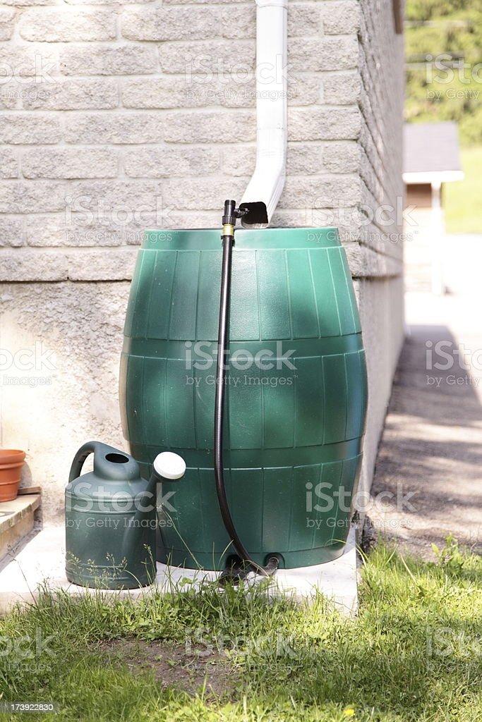Rain Barrel Water Conservation royalty-free stock photo