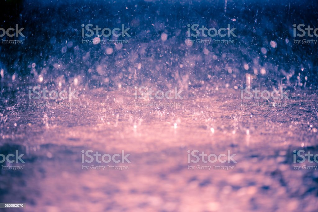 Regen Sie, Bokeh Hintergrund, kreisförmigen Facula, Abstract, abstrakt bunt unscharf gestellt Lizenzfreies stock-foto