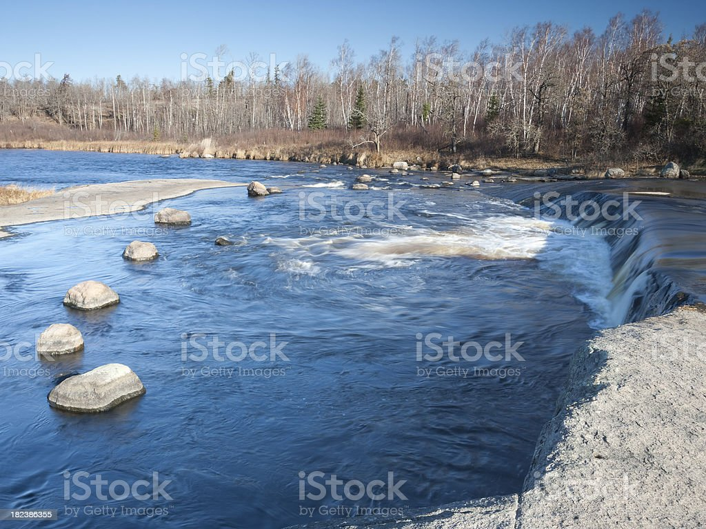 Rain Bow Falls Manitoba royalty-free stock photo