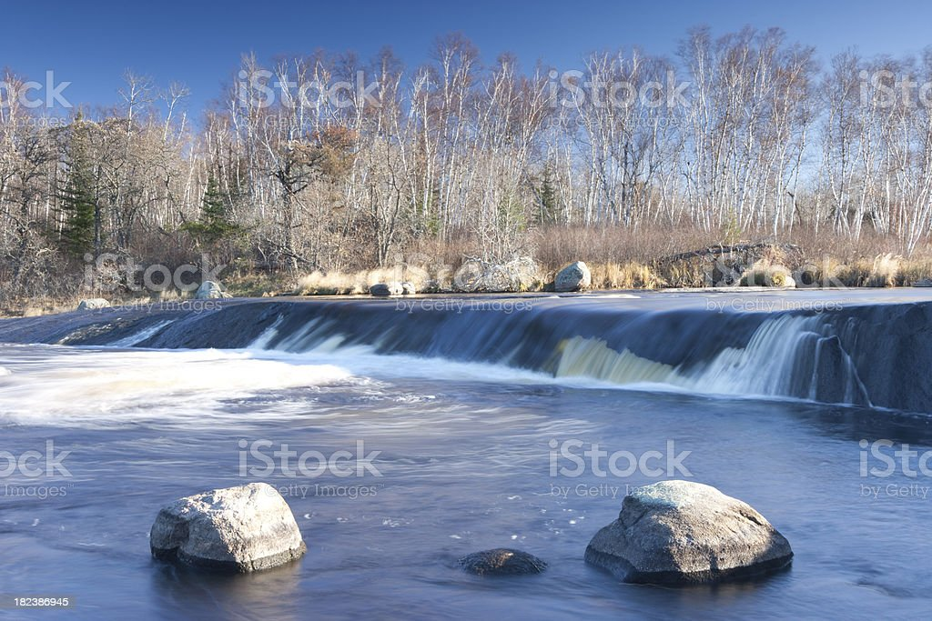 Rain Bow Falls Manitoba royalty-free stock photo
