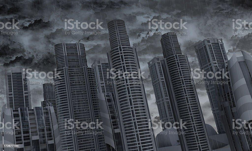 Rain City royalty-free stock photo