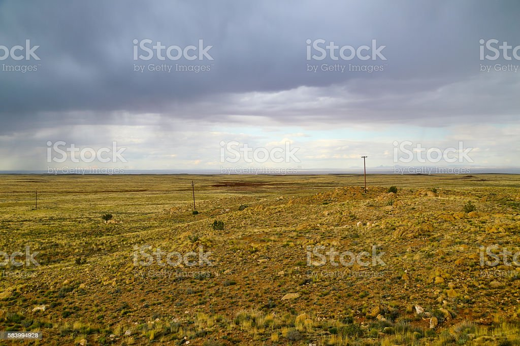 Rain Clouds above the Desert stock photo