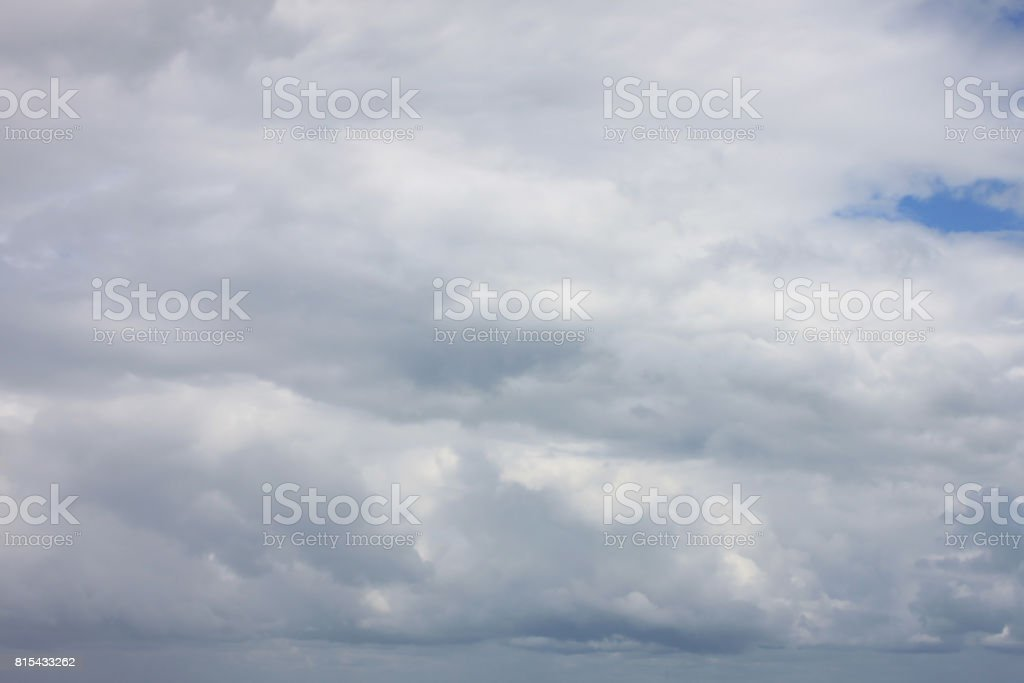 Rain clouds forming in the sky in concept of climate,Poor weather in...