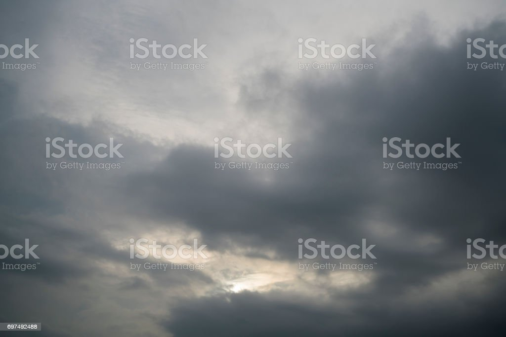 Rain clouds in the sky stock photo