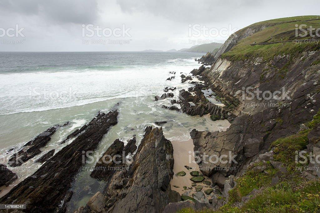 rain clouds over irish west coast