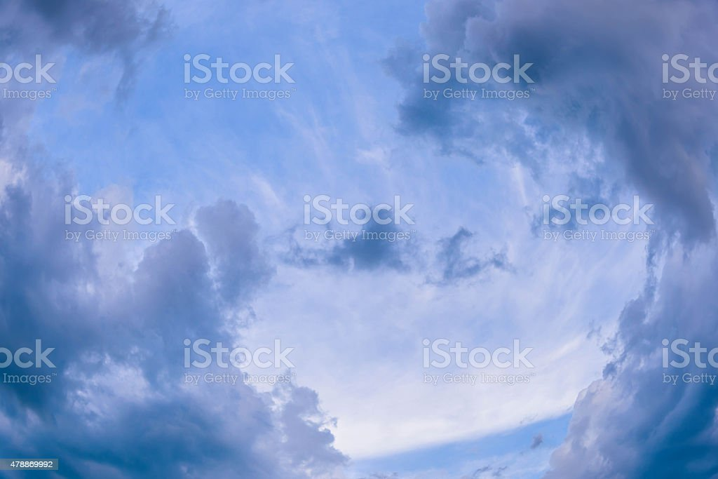 Rain clouds stock photo