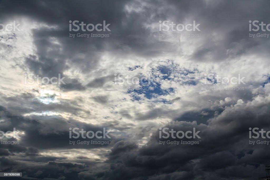 Nuvens de chuva  foto royalty-free