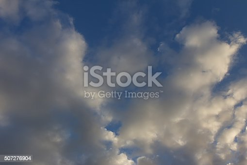 542795898 istock photo Rain clouds with evening light 507276904