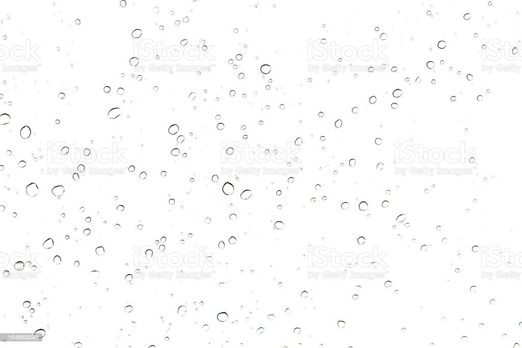 rain drop on glass stock photo