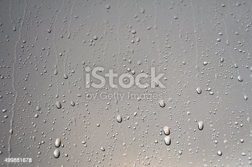 Background of water drops on glass.