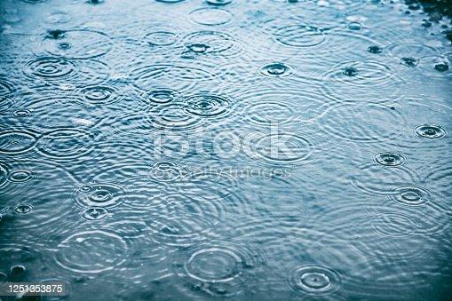 istock Rain drops background 1251353875