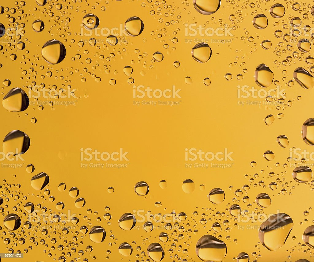 Rain drops on a glass royalty-free stock photo