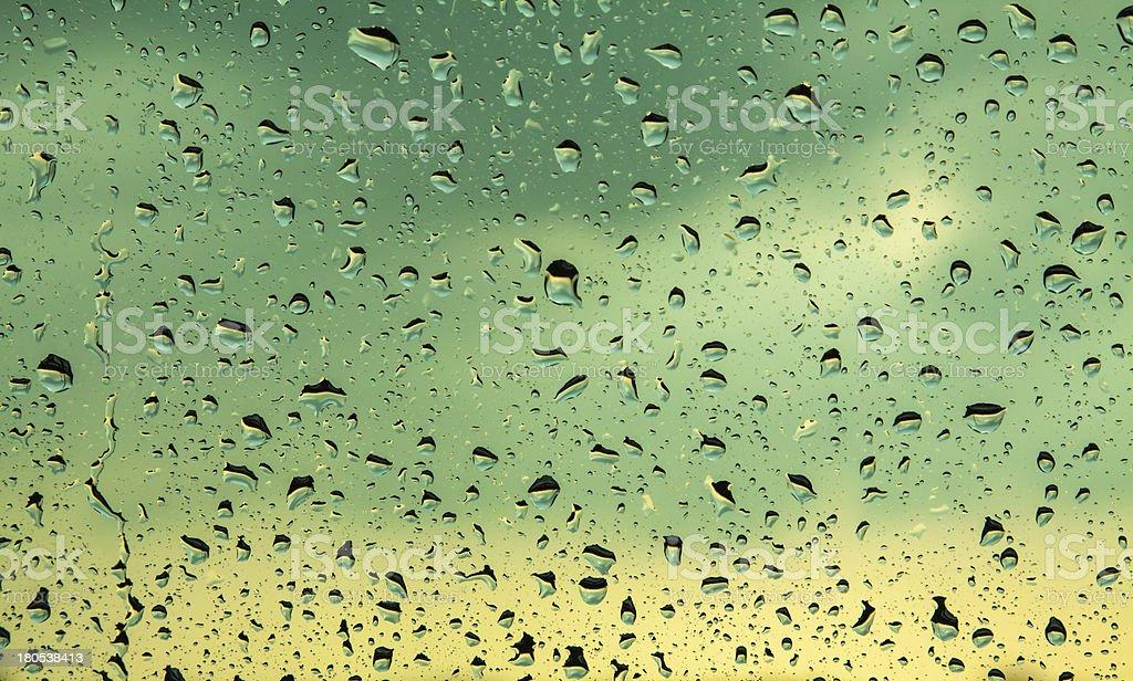rain drops on glass royalty-free stock photo