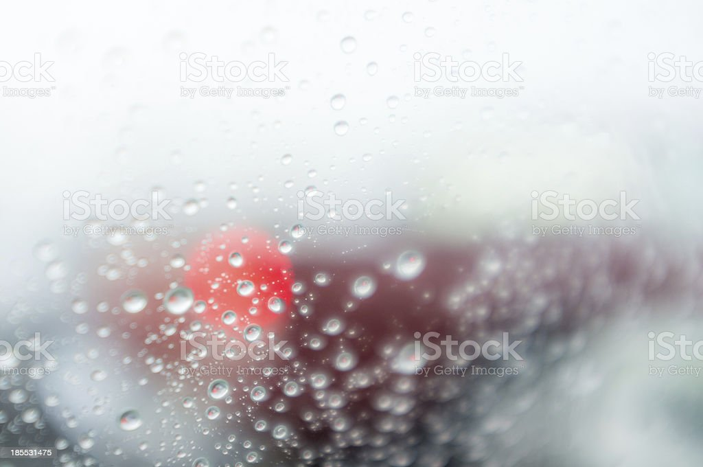 Rain drops on glass royalty-free stock photo