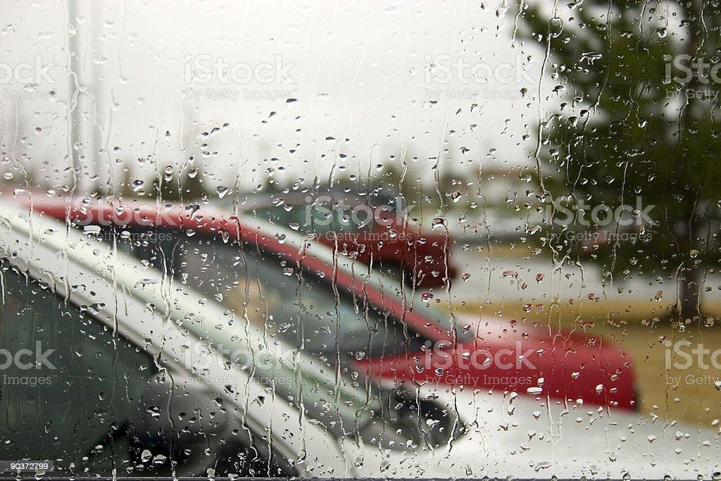 Rain Drops on the Windshield royalty-free stock photo
