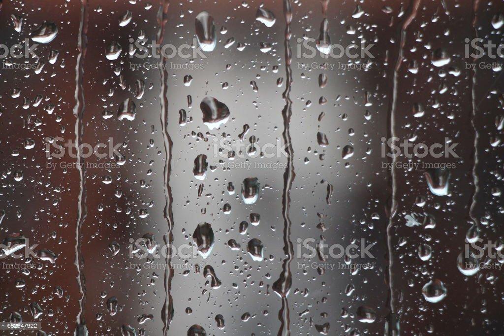 Rain drops on window , rainy day royalty-free stock photo