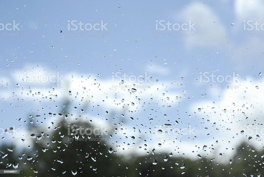 Rain drops on window series royalty-free stock photo