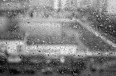 Monochrome raindrops texture