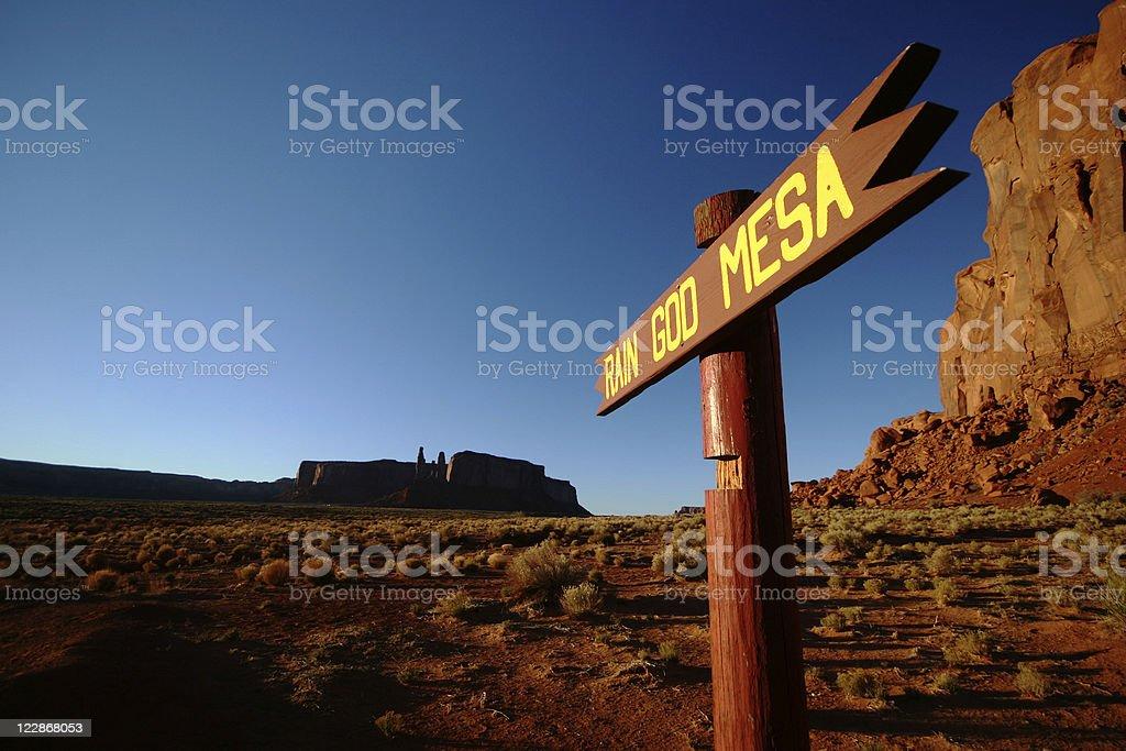 Rain God Mesa royalty-free stock photo