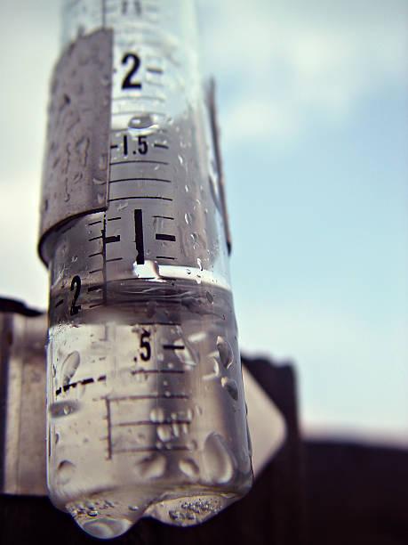 Rain Guage stock photo