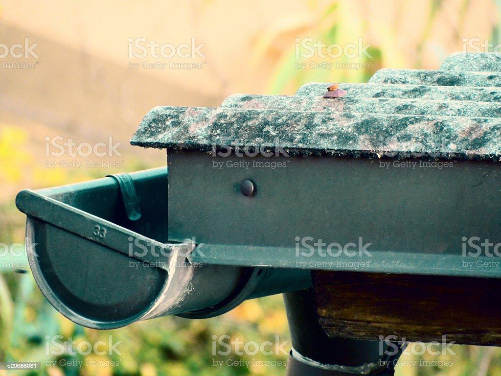 Rain Gutter stock photo