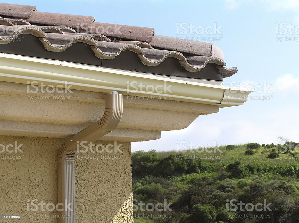rain gutter royalty-free stock photo