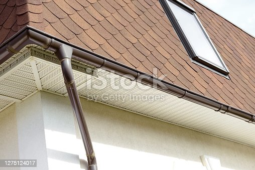 Rain Gutter with downspout