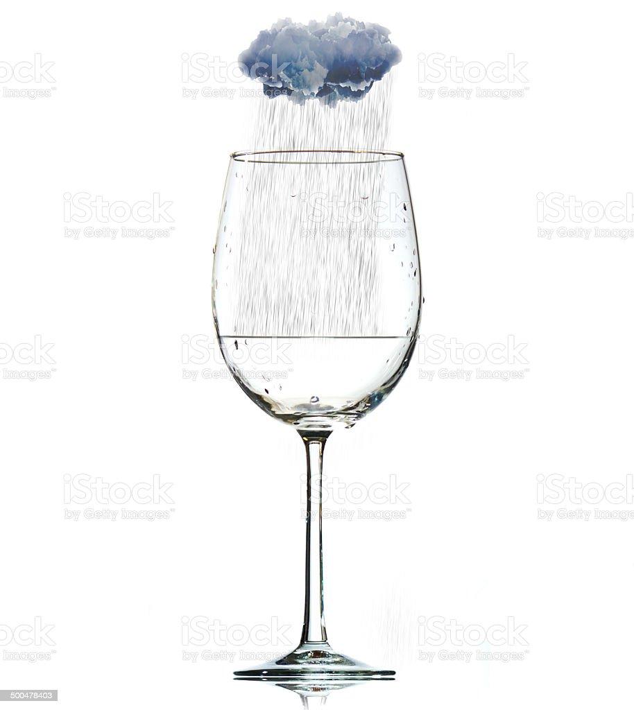 Rain in Glass stock photo