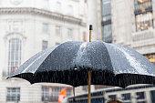 Rain in London Regent Street