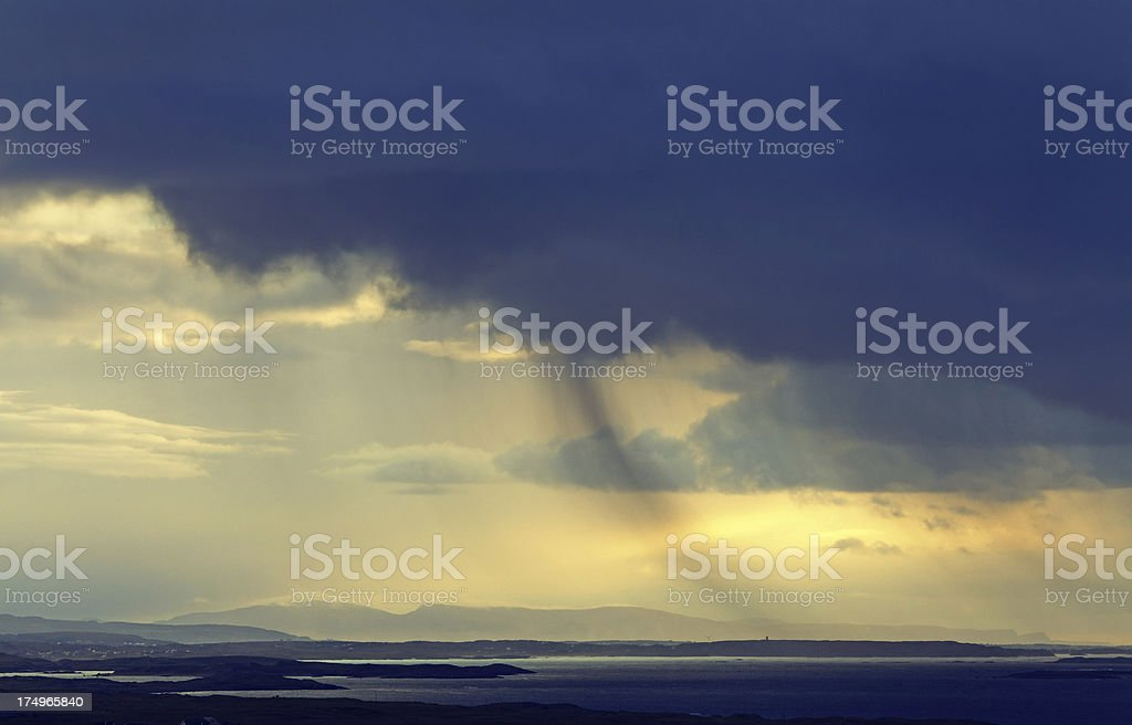 rain in the distance royalty-free stock photo