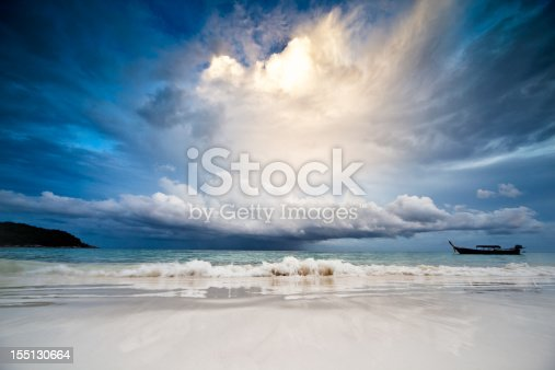 istock Rain in the sea 155130664