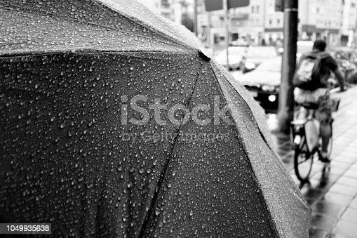 Rain in the south city of Nuremberg.