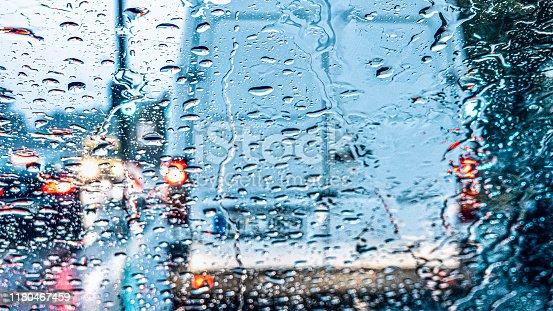 Rain in the traffic