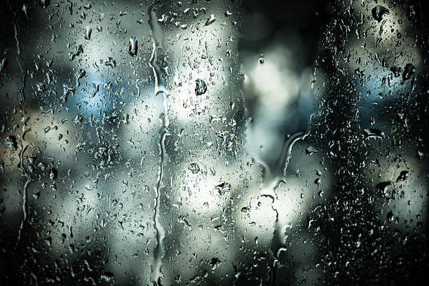 Rain on a window. stock photo
