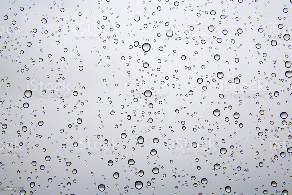 Rain on The Window royalty-free stock photo