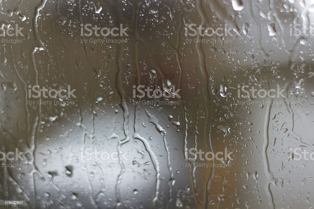 Rain on window stock photo